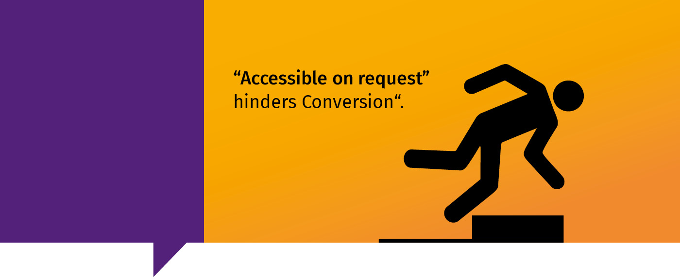 Accessible on request