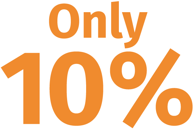 Only 10%